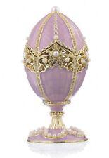 Faberge Egg & Violin trinket box hand made by Keren Kopal & Austrian crystals