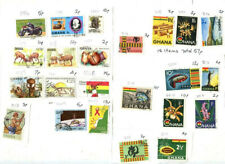 Used stamps from Ghana from 1960s to recent