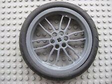 Lego HUGE Technic Wheel Tire 75mm D. x 17mm-Dark Gray Rim- Mindstorms Motorcycle