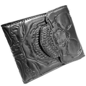 Skull Ribcage Wallet Gothic Skeleton Goth Punk Biker Horror Bi-Fold Eyelet Gift