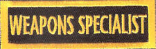 BRAND NEW WEAPONS SPECIALIST CHOPPER MOTORCYCLE BIKER CLUB IRON ON PATCH
