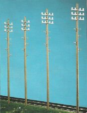 PECO LK 747 O GAUGE Telegraph Poles x 4 [RATIO 073]