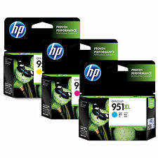 Expiration 2019 HP Genuine Set of 951XL Color Ink for HP Officejet 8100 8600