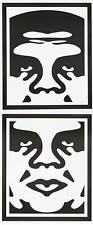 2x Obey Shepard Fairey silk screen simpsons warhol banksy Mr brainwash southpark