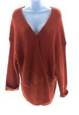 Full Circle Juniors Burnt Orange Long Sleeve Sweater Cardigan Winter Casual