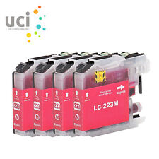4 Magenta Ink Cartridge For Brother LC223 MFC-J5625DW MFC-J5720DW DCP-J4120DW