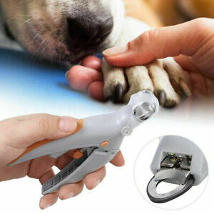 Toe Cutter Pet Dog Cat LED Light Claws Nail Clippers Trimmer 5X Magnification