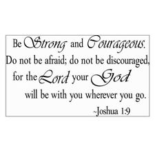 HK Be Strong and Courageous Joshua 1 9 Quote Religious Vinyl Decal Wall STI N7c7