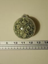 "67mm (~2.75"") Round Ball Ornament Filled With Genuine Shredded US Currency Money"