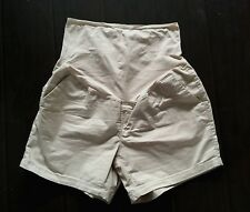 """Old Navy Beige Maternity Relaxed Full Panel Twill Shorts size 12 5"""""""