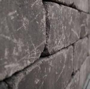 Betonmauer Mauerstein 21/42/14 anthrazit mix nuanciert gekollert Cobblestone