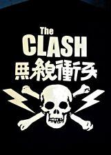 The Clash Vintage Japanese Skull & Crossbones Black T-Shirt *Brand New* +Bonuses