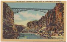 Postcard AZ Grand Canyon Navajo Bridge Colorado River Lee's Ferry Arizona c1940