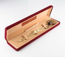Jules Jurgensen Gold Plated Analog Quartz Watch P4687 w/ Original Box & Papers