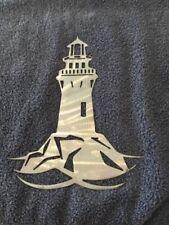 Plasma cut lighthouse sign style 3 metal Wall Decor