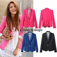 Casual Solid Blazer for Women
