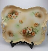 Antique RS Red Reproduction Mark Porcelain Butterfly Shaped Handled Serving Tray
