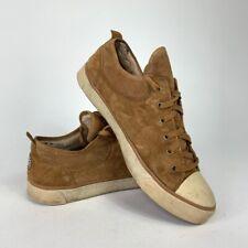 UGG Australia Womens Evera Sneakers Brown Sheepskin 1888 Low Top Lace Up Shoe 10