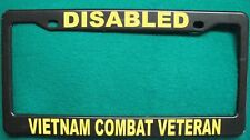 License Plate Frame-DISABLED/VIETNAM COMBAT VETERAN-Polished ABS- #3373Y