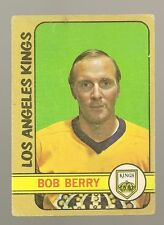 1972 - 73 Topps Hockey Set BOB BERRY Card
