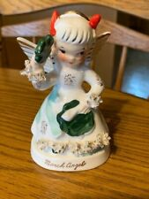 March Angel Figurine of the month by Napco, Shamrock, A1363, Calendar