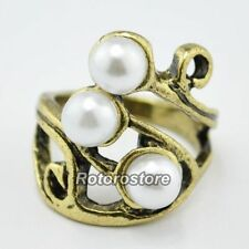 Pearl Bronze Costume Rings