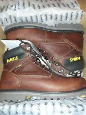 Brand new Dewalt Men's Axle Brown Leather Steel Toe Waterproof Work Boots 10.5