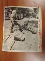 Vtg Glossy Press Photo Natick MA Sherwood St. Telephone Pole Snapped 5/17/80s