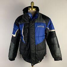 Ski-Doo Bombardier Sportswear Blue Black Coat Mens size S Jacket Snow Gear