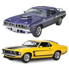 2pc Revell 1 24 1971 Plymouth HEMI Cuda 426 & 1 25 1969 Ford Boss 302 Mustang