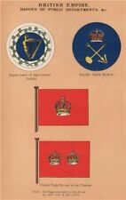 BRITISH FLAGS. Dublin Agriculture. Pacific Cable Board. Thames Powder Flags 1916