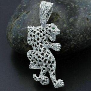 Modern And Sleek Panther Shape Fancy Pendant 14K White Gold 3.5 Ct VVS1 Diamond