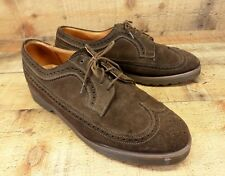 Dr Martens Leather Wingtip Shoes Suede Doc Oxford Brogue Brown 9.5 UK 9 England