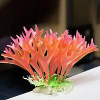 Aquarium Deko Koralle Korallenriff Künstliche Kunststoff Dekoratio Pflanzen V0B2
