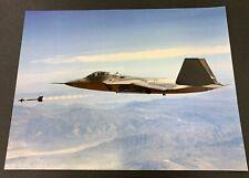 Us Air Force F-22 Raptor Missile Shot Large Photo Print