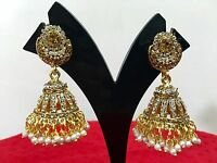 Bollywood Indian Gold Plated Women Ethnic Fashion Jewelry Jhumka Earrings