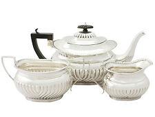 Sterling Silver Three Piece Tea Set - Antique Edwardian