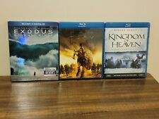 Kingdom of Heaven, Troy Director's Cut & Exodus: Gods and Kings (Blu-Ray)