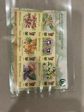 MALAYSIA 2018 perlis wild orchids definitive seriesimperforated MS Mint MNH