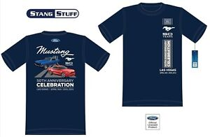 Blue Mustang 50th Anniversary  Celebration Official Event T Shirt - LAS VEGAS