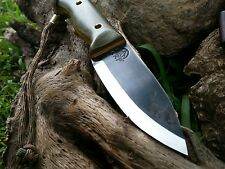 BLOWOUT!! KRF 0-1 Custom Bushcraft /Survival /Camping/ Knife O.D Green USA Made