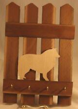 Reclaimed Barn Wood Key Holder Dog Collie Silhouette #KH01012