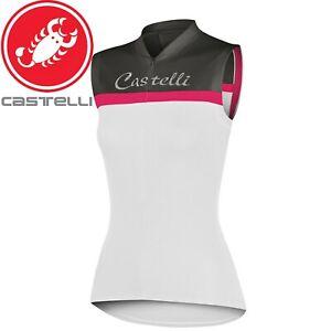 Castelli Promessa Sleeveless Women's Cycling Jersey - White/Grey