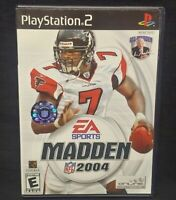 Madden NFL 2004 Football PS2 Playstation 2 COMPLETE Game 1 Owner Near Mint Disc