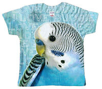 "Dirty Fingers ""I Love Budgies"" Baby T-Shirt All Over Print Boy Girl Bird Birds"