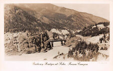 R229882 Railway Bridges at Siska. Fraser Canyon. J. C. Walker. Vancouver. B. C.