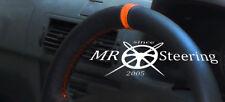 Para Renault Megane I 1995-2003 Cubierta del Volante Cuero Negro + correa naranja