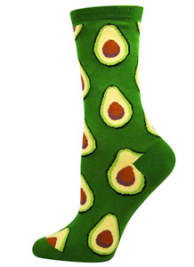 """Socksmith Women's Crew Socks """" Avacado""""  - One Size"""