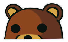 Bear sopportare tragen brown auto car adesivo etichetta sticker 15cm x 9cm