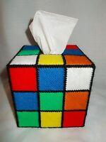 Rubik's Cube Plastic Canvas Tissue Box, as seen on TBBT The Big Bang Theory